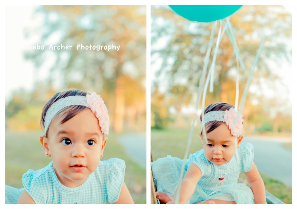 baby and ballon